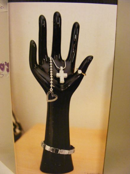 BNIB Black Ceramic Hand Jewellery Stand